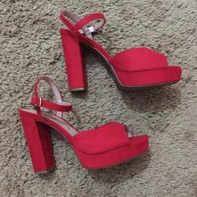 Sandalia Vermelha Salto Beira Rio