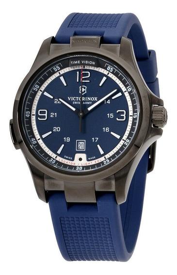 Relógio Masculino Victorinox 241707 Pulseira De Silicone