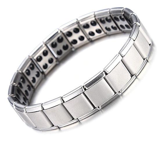 Pulseira Magnética Bracelete Turmalina Aço Inoxidável