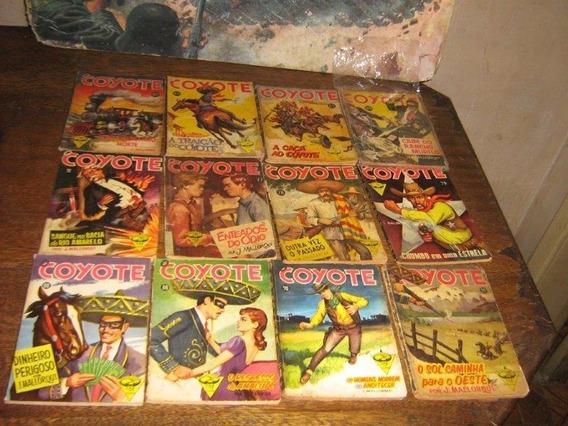 Lote Com 20 Livros Coyote Ano: 1961 Editora Monterrey Raro!