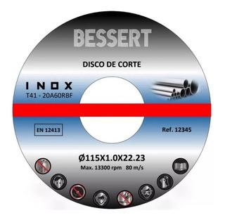 Caja 50 Discos De Corte 4 1/2 Acero Inox 1mm - Ferroconstru