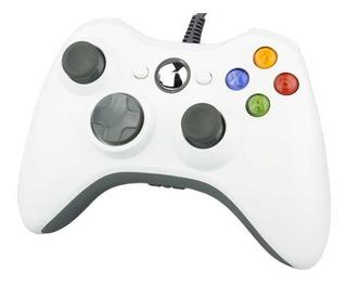 Control Joystick Microsoft Mando Alámbrico Xbox 360 Blanco