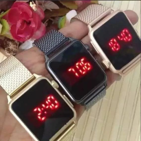 Kit Relógio Feminino Barato Led C/ 10 Pcs Atacado P/ Revend