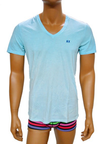 Playera A | X Armani Exchange Colorblock Seminueva Talla M