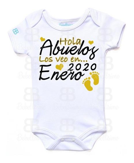 Pañalero Personalizado Bebé Día Abuelos Manga Corta O Larga