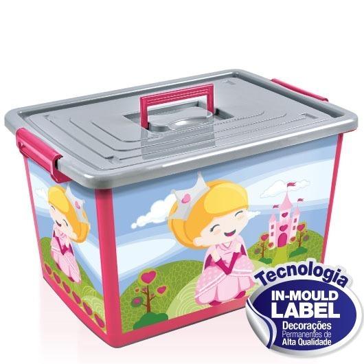 Bau Container Caixa Organizador 50l Brinquedos Menina 25250