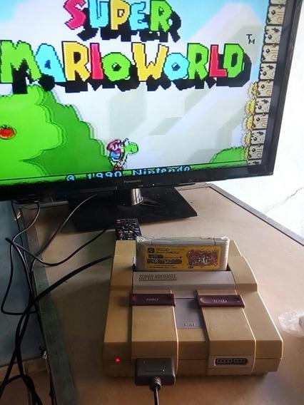 Lote 4 Jogos Mário Super Famicom