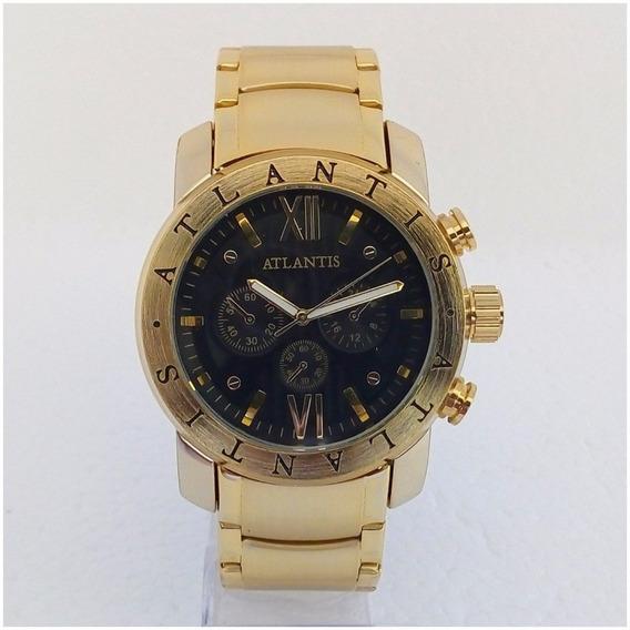 Relógio Masculino Atlantis 3310 Origin Dourado Igual Bugary