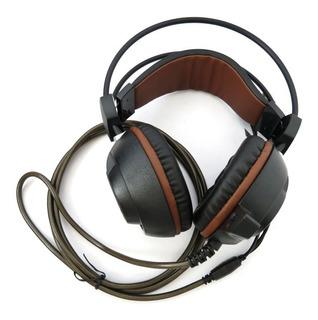 Headset Xiberia P/ Jogar No Computador Preto Headphone Gamer