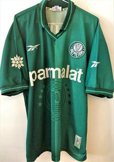 Camisa Palmeiras Final Brasileiro 97 Usada Autografada Oseas