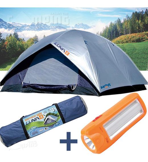 Barraca Acampamento 4 Pessoas Camping Impermeável + Lanterna