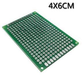 Placa Dupla Face 02 Pçs Fibra Perfurada Arduino 4x6 Cm Carta