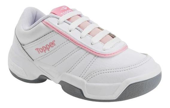 Zapatillas Topper Tenis Tie Break Niña Blanca