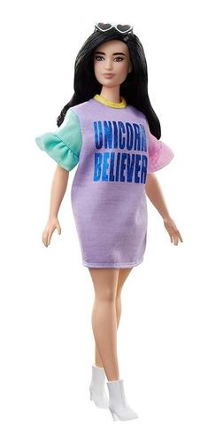 Boneca Barbie Fashionista 127 Unicórnio Believer Nova 2019