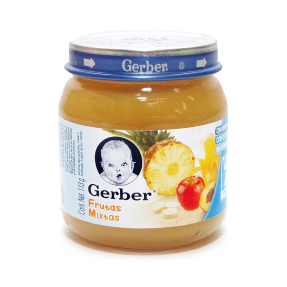 Gerber Etapa 2 Papilla Sabor Frutas Mixtas Frasco 113 Gr