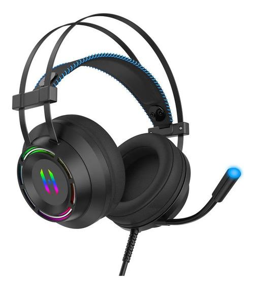 Headphone Gamer Usb 7.1 Headset Virtual Led Fone Estéreo 7.1