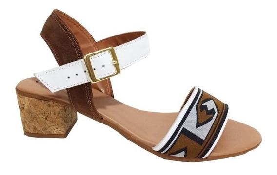 Sandália Salto Baixo Norma Lopez