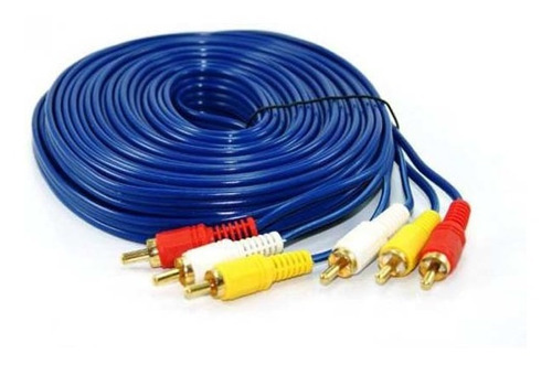 Pack 2x Cable Rca A Rca 10 Metros