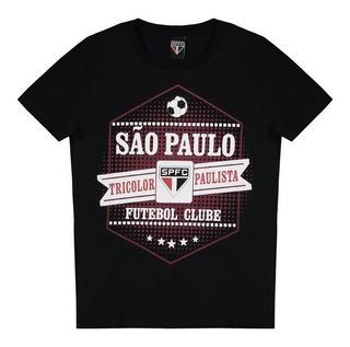 Camiseta Sao Paulo Joy Infantil Preta