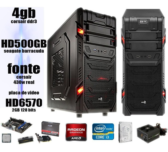 Computador Gamer I3 3.06 Ghz4gb Corsair Hd500gb Fonte 430w