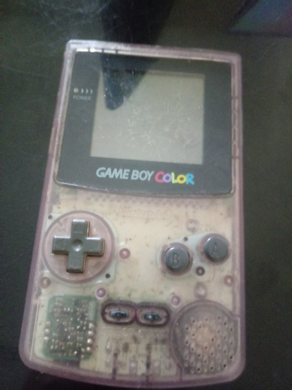 Game Boy Color Clear Purple Nao Ligar