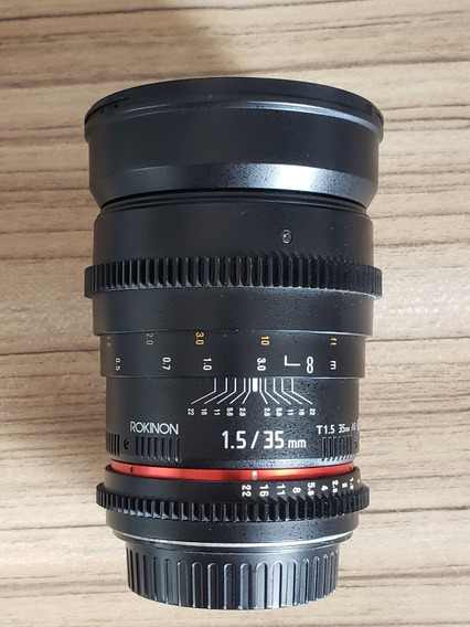 Lente Rokinon 35mm T1.5 Cine As (full-frame) Para Canon Ef M