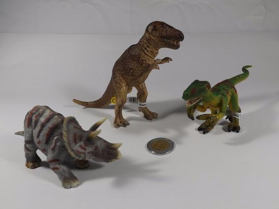 Lote Figuras Schleich Dinosaurio Tiranosaurio Velocirráptor
