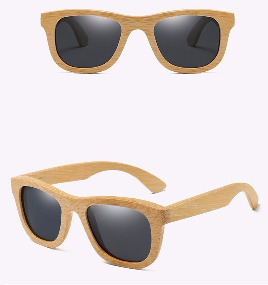 Óculos De Sol Madeira Masculino Feminino Polarizado Oc7