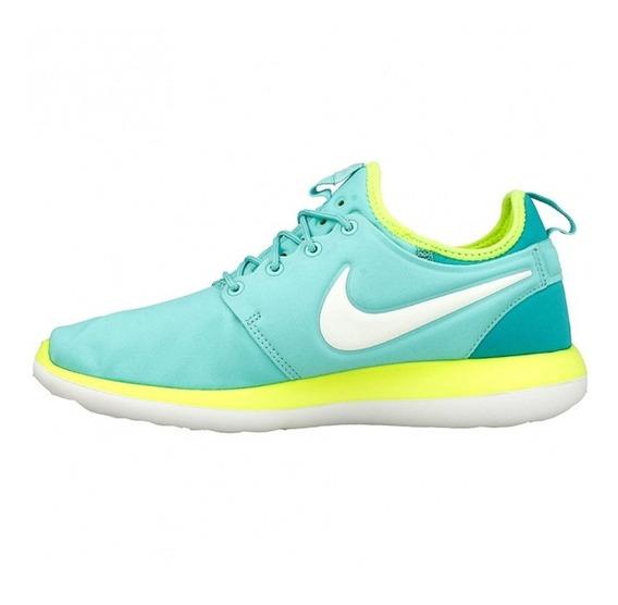 Tenis Nike Roshe Two Verde Correr Gym Deportivo Oferta