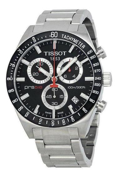 Relógio Tissot Prs516 Masculino Original Aço Fundo Preto