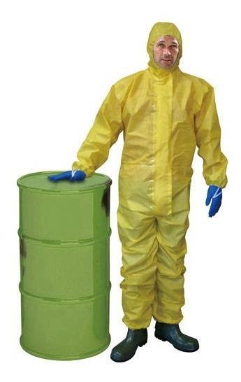 Mameluco Descartable Para Protección Química Talle Xxl