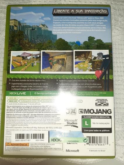 Jogo Para Xbox 360 Minecraft Totalmente Legendado Em Portugu