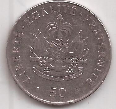 Haiti Moneda 50 Centimes Año 1995