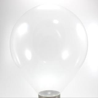50 Unidades - Tamanho 12 - Balão Bexiga Transparente Cristal