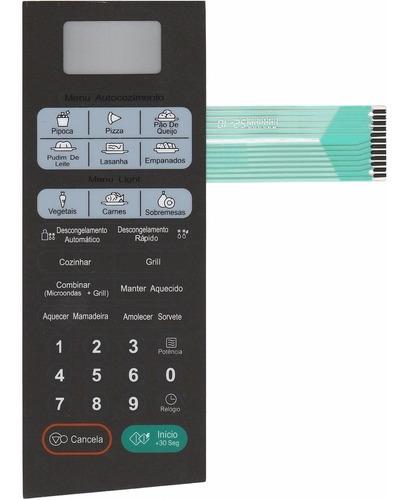 Imagem 1 de 2 de Membrana Teclado Microondas LG Mh3046sp Mh 3046sp
