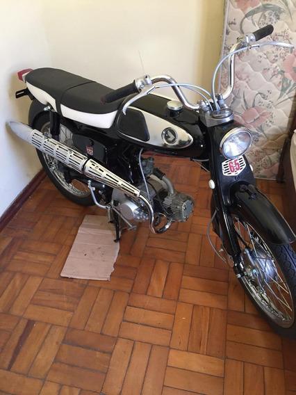 Moto Antiga Honda Modelo S 65, Ano 1968