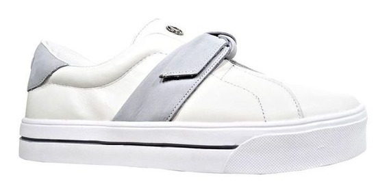 Tênis Dumond Laço Off-white/cinza