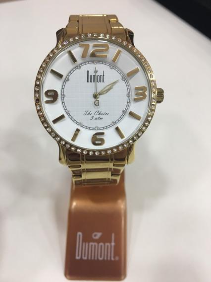 Relógio De Pulso Dumont Sp85112 Dourado Feminino