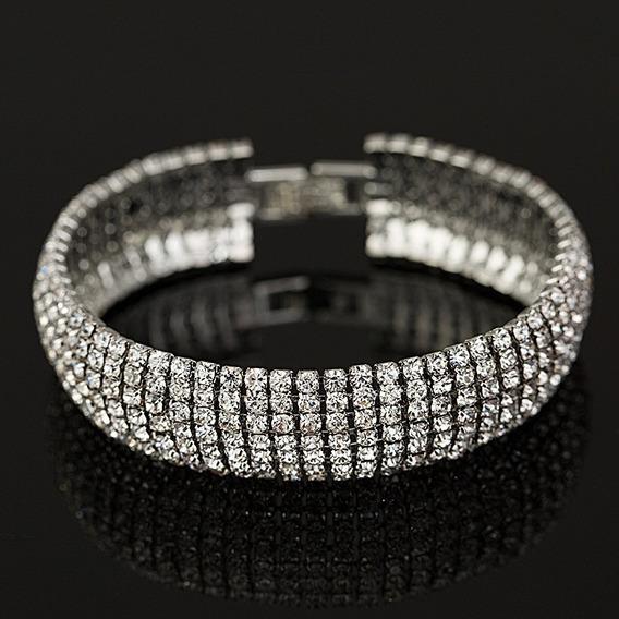 Pulseiras Bracelete De Cristais Luxo