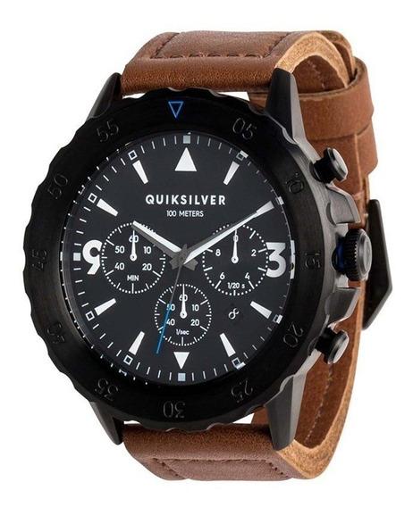 Relógio Quiksilver B-52 Chrono Leather Black Gold