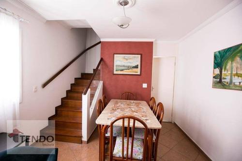 Imagem 1 de 30 de Imob01 - Sobrado 121 M² - 3 Dormitórios - Taboão - São Bernardo Do Campo/sp - So0023