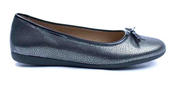 Zapatos Chatitas Balerinas Sucre Con Moño Neg De Mujer