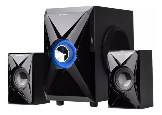 Caixa De Som C3tech 2.1 Sp-260bk C/fm/sd/usb 40w Rms