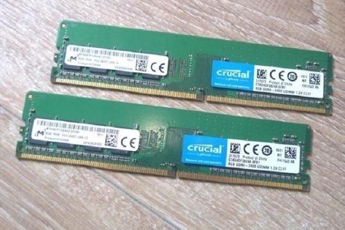 Memória Ram Crucial 16gb(2x8gb) Ddr4 2400mhz