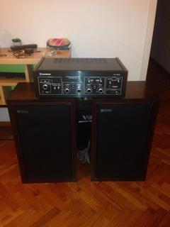 Amplificador Audinac At510 + Bafles Audinac 718. Originales!