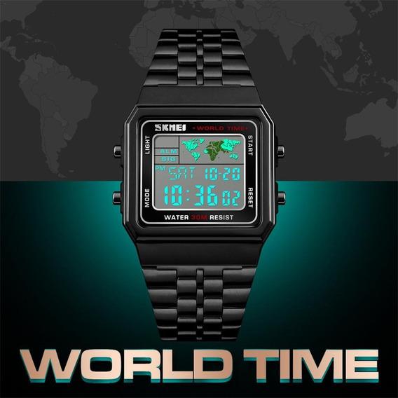 Relógio Skimei Digital Word Time