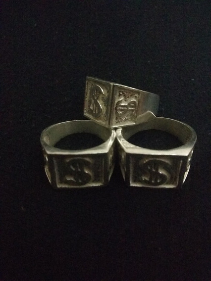 Anel Dedeira De Prata 925 Do Cifrão