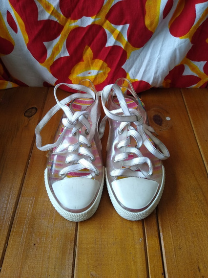 Sapato Infantil Hello Kitty Transparente Lindo Barato Usado