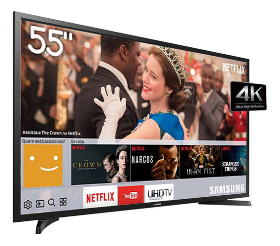 Smart Tv Led 55 Polegadas 4k Uhd Samsung Wi-fi Conv. Digital