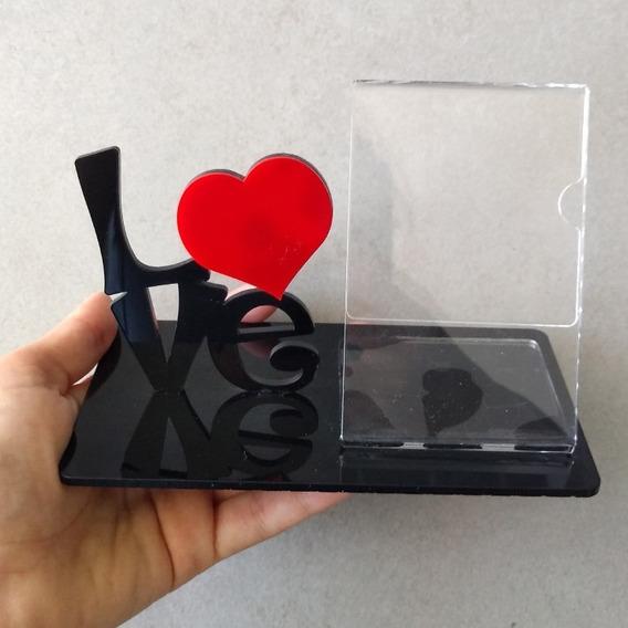 Porta Retrato Love De Acrilico Foto 10x6cm